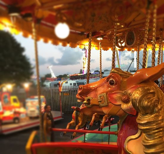 Fairground Carousel Horse Hull Fair Hull City Of Culture 2017 Children's Ride Painted Horse Roundabout
