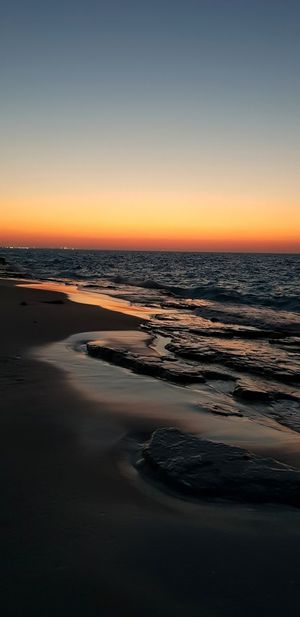 North coast, Alexandria, Egypt Low Tide Sea Wave Sunset Beach Water Sand Reflection Sky Horizon Over Water Romantic Sky Seascape