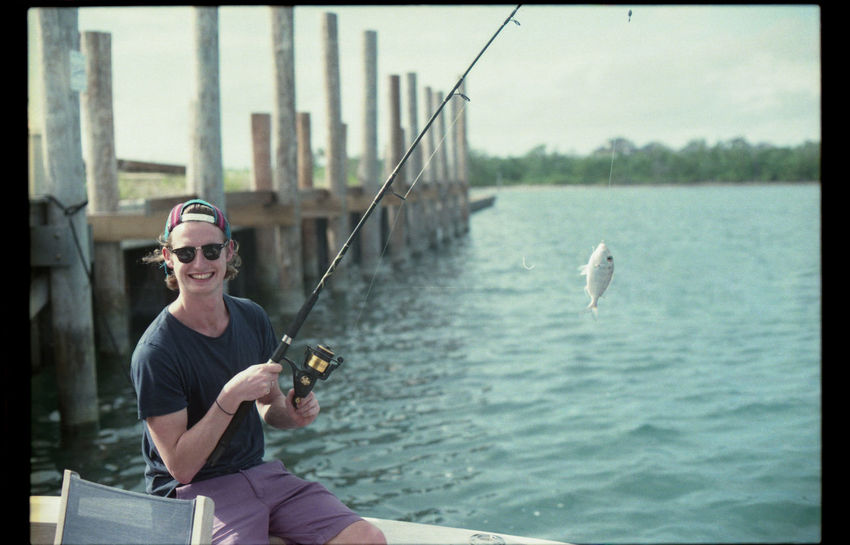 Caught my first fish in a long time out the back of Caleb's boat! Bahamas Blue Sky Boat EyeEm Best Shots Film Film Photography Filmcamera Filmisnotdead Filmphotography Fish Fishing Fishing Boat Nikkormat FS (1965) Nikon Nikonphotography No Edit/no Filter No Edits No Filters Sea Sea And Sky Seaside Showcase March Sun Tadaa Community Taking Photos That's Me