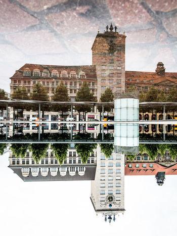 Pfützen in Leipzig. Architecture Architecture Architecturephotography Architektur Built Structure Leipzig Leipzigram Pfützenfoto Pfützenfotograf Pfützenfotografie Pfützografie Puddle Reflections Puddleography