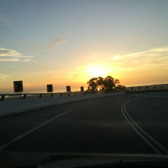 Sunset Road Tree Sky Cloud - Sky Travel Destinations No People Road Sign Day Nature Sun Landscape Outdoors Pulau Pinang