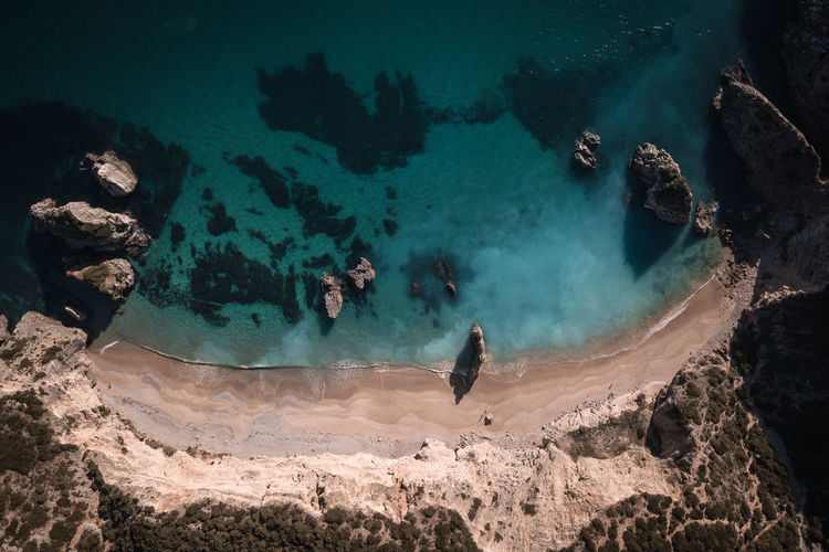 Sea Water Beach Rock Nature Blue Europe Tranquility Travel Destination Outdoors Geology Sand Tourism Landscape Day Summer Scenics Paradise Hot Land Turquoise Aerial View Coastline Arrabida