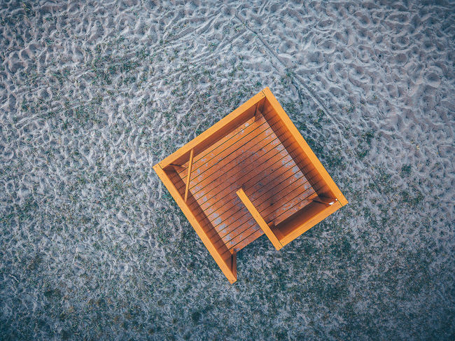 Beach Aerial Shot DJI X Eyeem Drone  Lietuva Aerial Aerial View Beach Close-up Day Design Directly Above Dressing Cabins Europe Flooring Geometric Shape High Angle View Indoors  Mavic Mavic Pro Nature No People Orange Color Pattern Shape Single Object Still Life Textured  Water Wood - Material The Architect - 2018 EyeEm Awards The Creative - 2018 EyeEm Awards