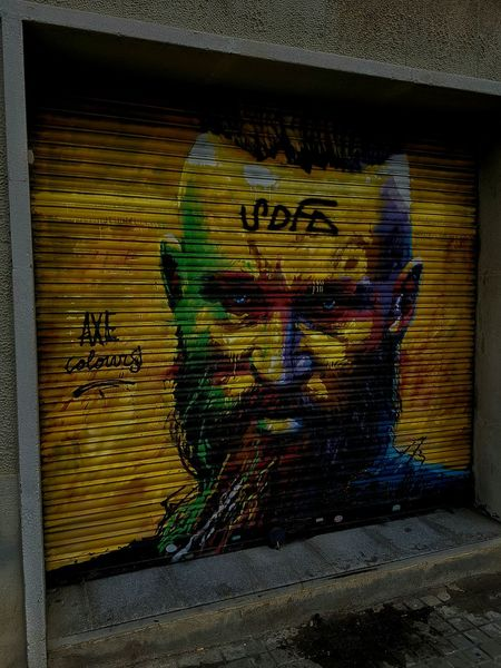 Who has made this graffiti, deserves to go to Valhalla. Fluvià Street. Barcelona. Beside the Palo Alto Market. Multi Colored Spray Paint Outdoors Graffiti & Streetart Ragnar Ragnarlothbrok Barcelona Vikings  Valhalla EyEmNewHere Instagood Photooftheday Beautiful