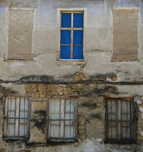 Architecture Damaged Ruined Window Frame Abandoned House Window Wall Dead Windows