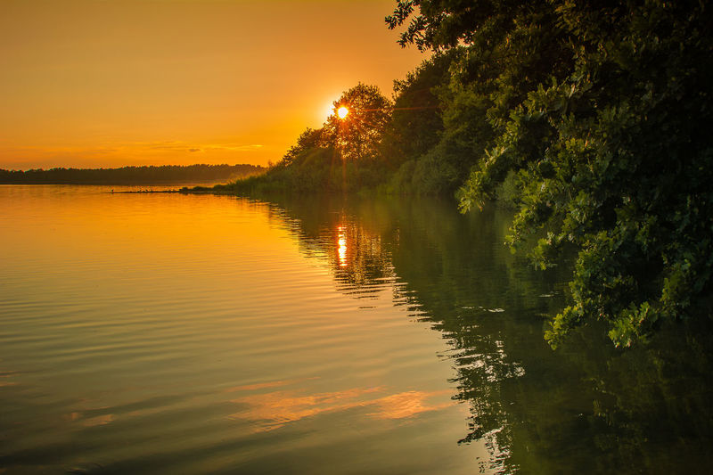 Beauty In Nature Day Lake Nature No People Outdoors Reflection Scenics Sky Sunset Tranquil Scene Tranquility Tree Water
