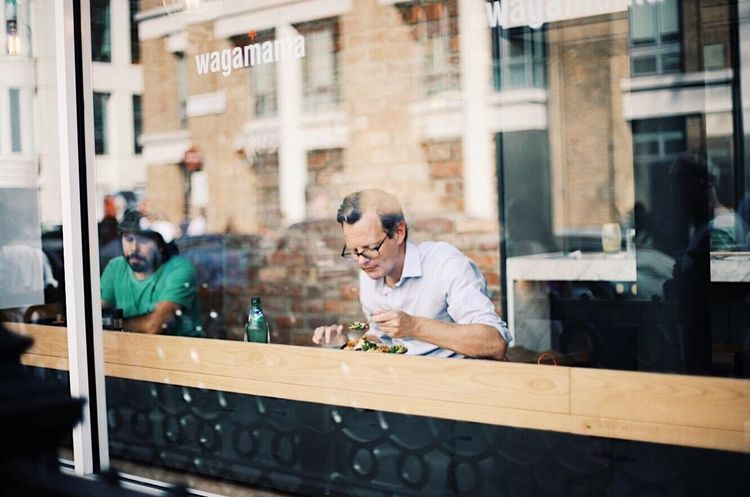 Lunch time in soho Window Dining Eat Eating Business Lunch Meal Lunch Accuracy Wood - Material Concentration Eyeglasses  Business Finance And Industry One Person Craftsperson Day Adult Business Stories Love Yourself