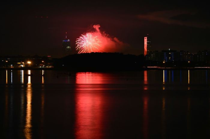 ©2015 Fourth Of July Fireworks Display, City at Night
