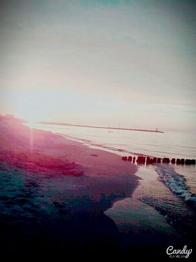 Sea Beach Summer Horizon Over Water Sun Water Outdoors Nature Pink Color No People
