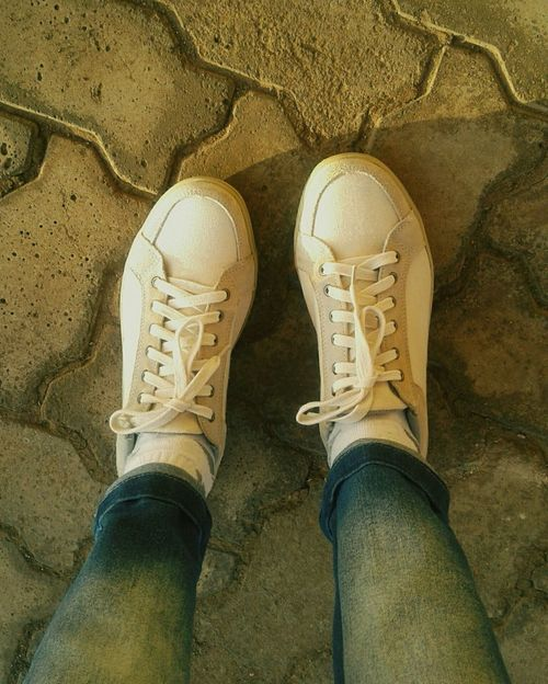 Shoes White Shoes Sunlight Floor