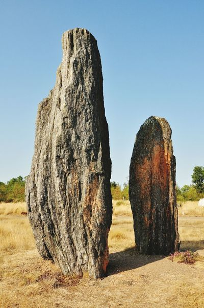 Megaliths Standing Stones Stone Textures TwoIsBetterThanOne Prehistoric Outdoors Tranquil Scene Day Afternoon Sun