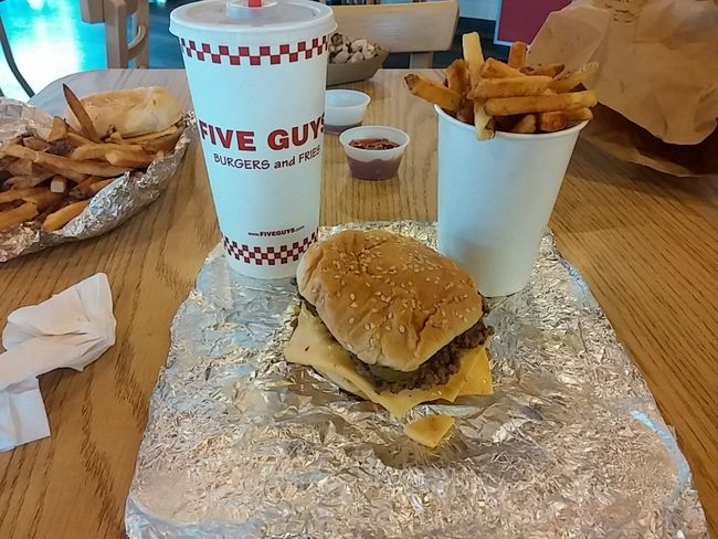 Five Guys Restraunt Food Porn Hamburger Lunch Time!