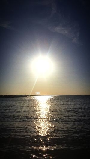 Blaring sunset