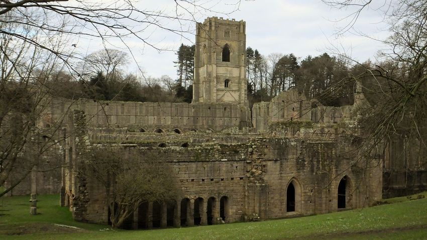 Fountains Abbey Yorkshire Fountains Abbey Stone Buildings Abandoned Abandoned Buildings Buildings Abbey