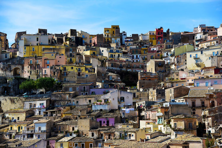 Architecture Brick Wall City City Life Colors Colours Day Favela Houses Italy Mountain Village Old Buildings Old Town Outdoors Sicily Stone Structure Tetris Travel Destinations Travel Photography Village Village View