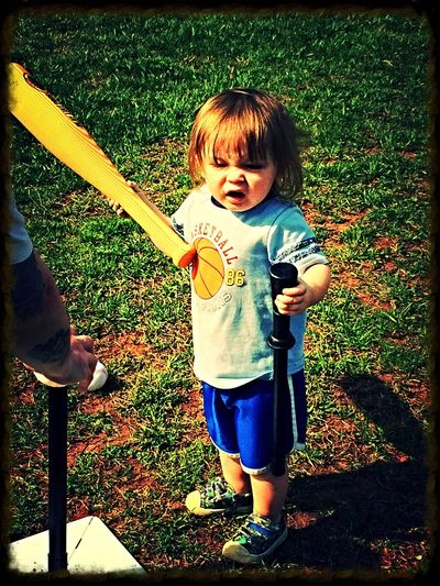 Baseball ⚾ Boy And Bat Ball Having Fun :) Having Fun With Kids Ripley Wv Summer Time  Summer Game People And Places.