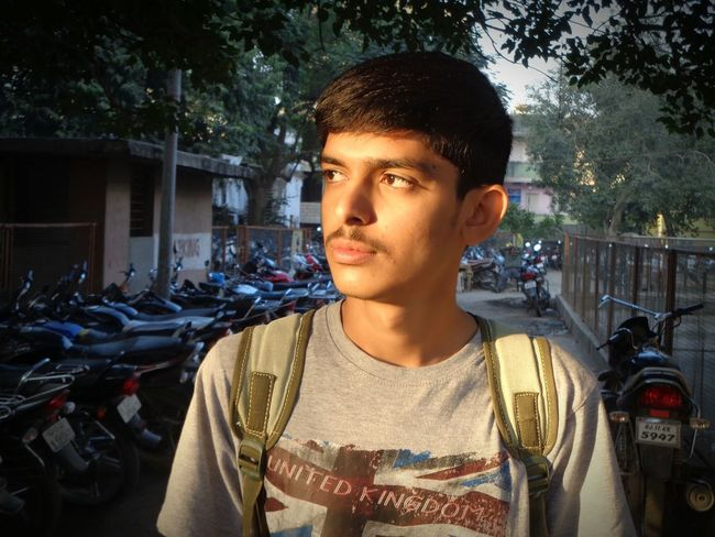 Young Adult One Person Headshot Portrait Real People People Outdoors Close-up Adult Day Adults Only Handsome Handsomeboy Gujarat India Young Adults Only Low Light Romantic First Eyeem Photo Asain Boy Boy Adult Sunlight