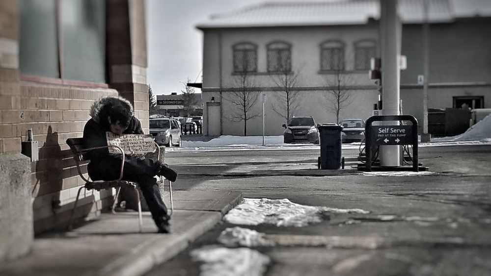 Sitting Bench Adult City Adults Only Outdoors Architecture Day Homeless Man Need Help Waiting how can he self serve himself? I saw this man sitting on a bench beside the drive through exit while the other man sitting in front of the drive through entrance, so i gave the fries to the man who were on the bench because he is much smarter than the one who sit on the entrance. Chances are reserved to someone who have well prepared.