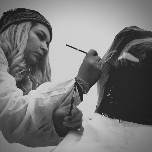 The art is my favourite job. Painting Paint B&w Photography Io Me Myhobby Blonde Hair Pennelli Art, Drawing, Creativity ArtWork