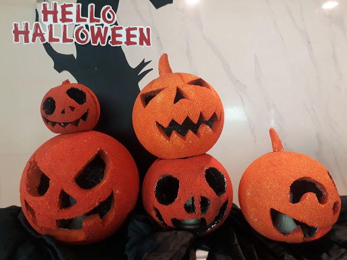 Text written on pumpkin during halloween