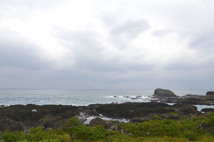 Beauty In Nature Coastline Horizon Over Water Rock - Object Rock Formation Sea Shore Sky Water Hualien, Taiwan