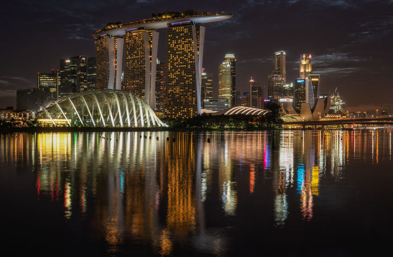 Marina bay Sands at night ASIA Marina Bay Sands Singapore Skyline Architecture Building Building Exterior Built Structure City Cityscape Illuminated Long Exposure Luxury Marina Bay Modern Night No People Reflection Skyscraper Travel Destinations Water Waterfront Luxury Hotel Hotel Financial District  HUAWEI Photo Award: After Dark