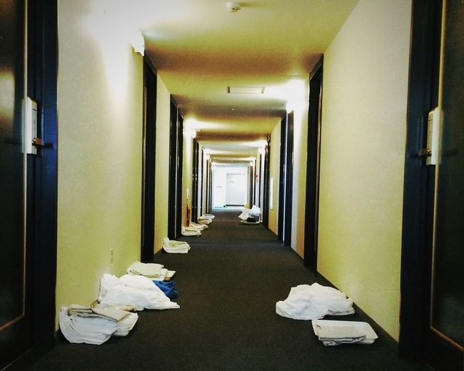 Empty narrow corridor