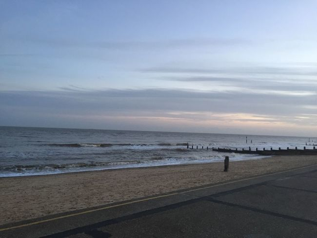 Beach Beauty In Nature Cloud Cloud - Sky Clouds Clouds And Sky Day Horizon Over Water Idyllic Incidental People Nature Outdoors Pier Railing Sand Scenics Sea Shore Sky Southwold Tranquil Scene Tranquility Water Winter