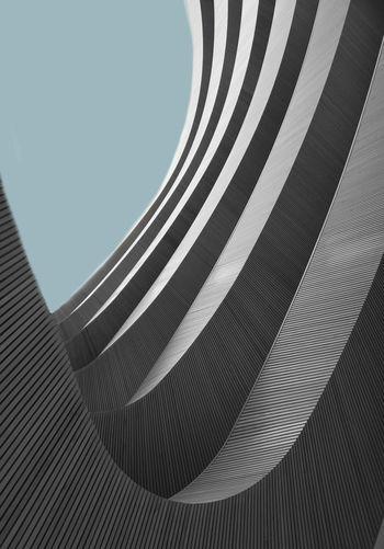 Full frame shot of metallic structure against sky