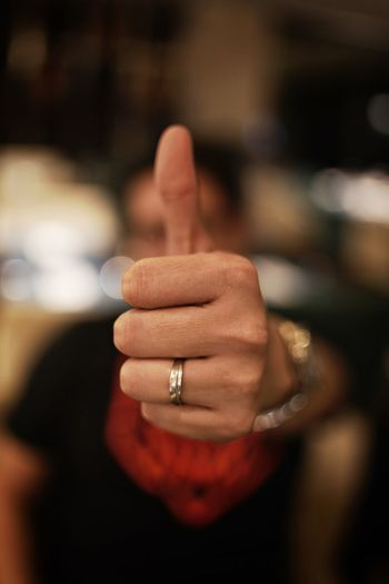 Approved Bokeh Photography Bokeh Love Bokeh Background Bokehlicious Bokeh Human Hand Hand Human Body Part Finger Human Finger Ring Jewelry Hand Sign Thumbs Up Emotion