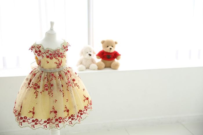 Yellow Dress Fashion Indoors  Lifestyles Doll Teddy Bear White Room Sunlight
