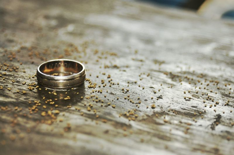 Close-Up Of Wedding Ring