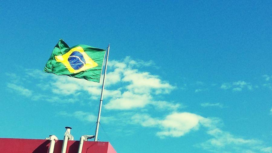Brazil Brasil Sky Clouds And Sky Patriotic University My Home My Country