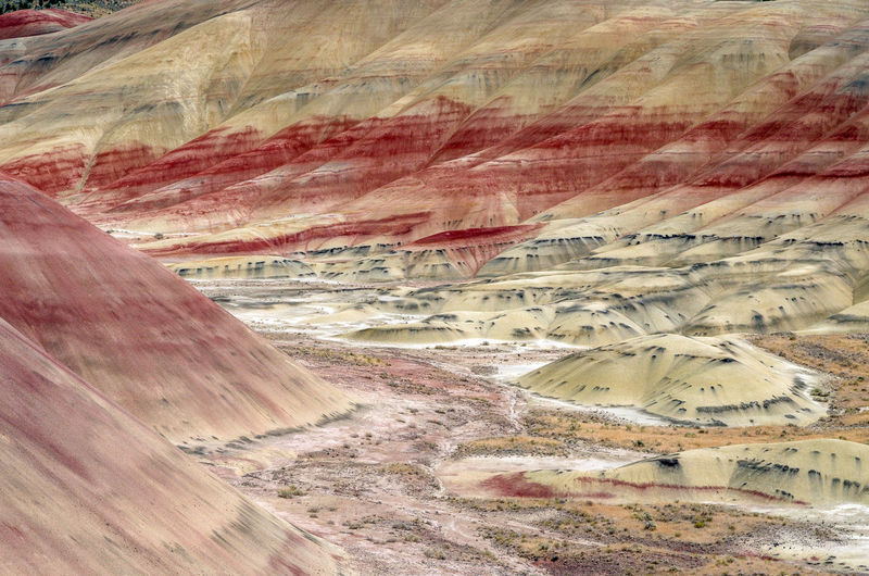 Full frame shot of mountains at john day fossil beds national park
