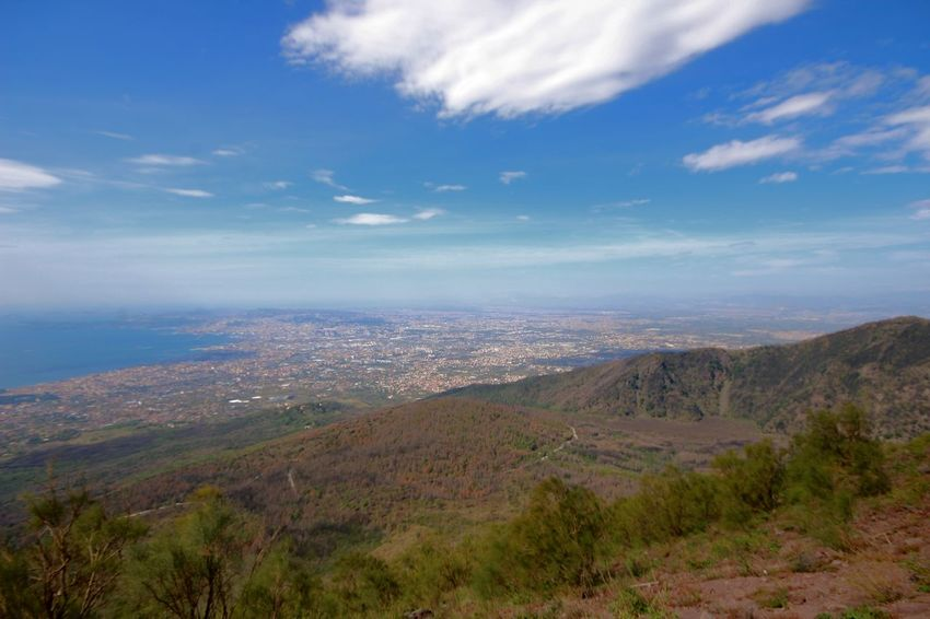 climbing the Vesuv Vesuvio Tadaa Community Picoftheday Mountain View Take A Walk Amazing View Europa Tree Flower Mountain Beauty Sea Blue Springtime City Sky Landscape Volcanic Landscape Volcano Volcanic Crater Lava Active Volcano Valley Geology Pastel Colored