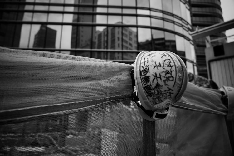 Helmet Blackandwhite Black And White Bnw Security City Close-up Architecture Built Structure Building Exterior Textured  Pattern Full Frame Architectural Detail Detail