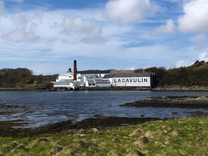 Lagavulin Islaywhisky Islay Scotland Cloud - Sky Water Sky Transportation Nautical Vessel Text Mode Of Transportation Outdoors Architecture Travel Nature