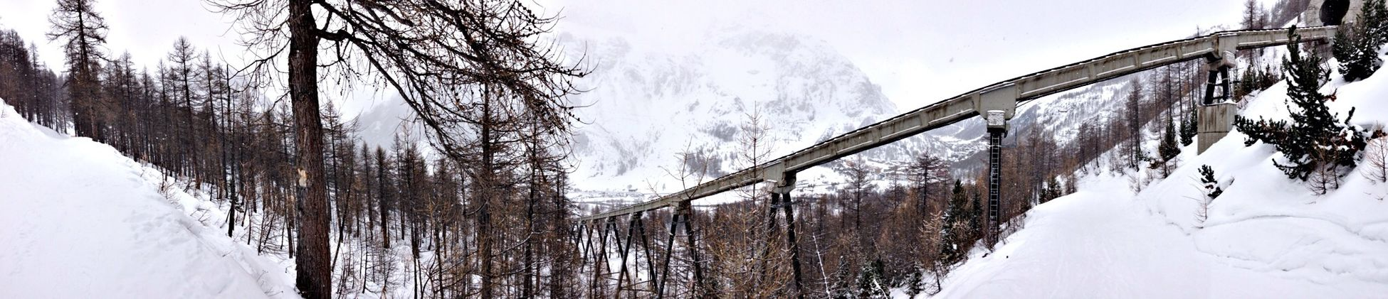 Panoramic Funiculaire  Mountain Winter
