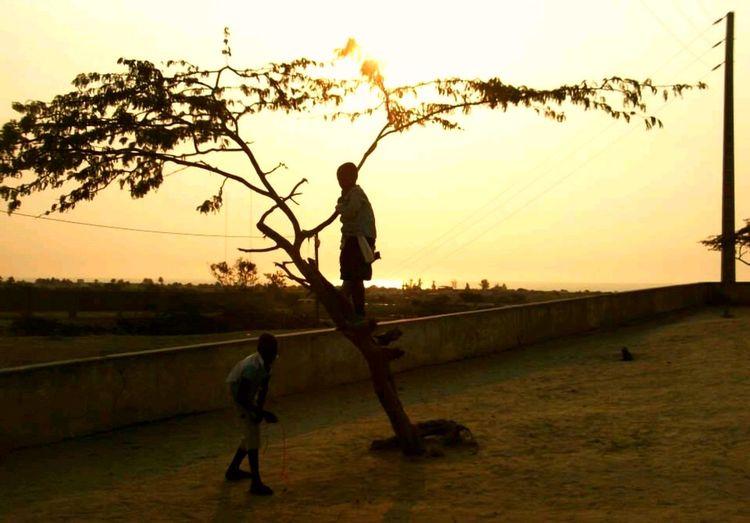 Benguela Angola Bairro Da Graça Kids Sunset Outdoors