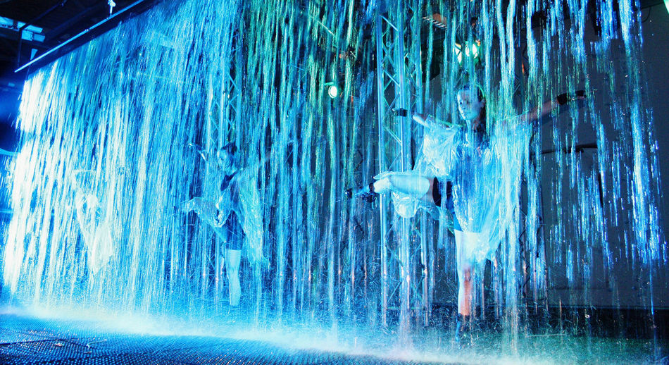 Art Artists Blue Event Exhibition Green Green Color Illuminated Motion Blur Overnight Success Performance Red Show Theatre Water Waterfall Waterfront Waterwall Performance Young Adult Young Woman TakeoverMusic Always Be Cozy