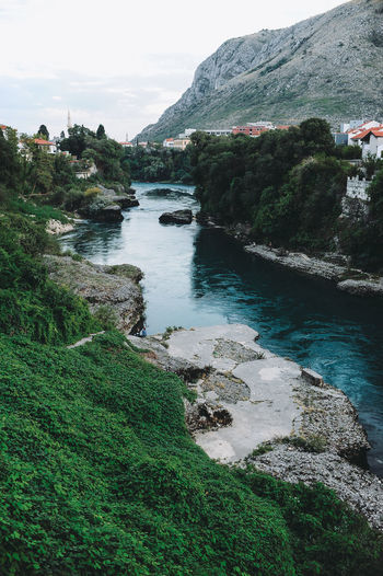 BIH Bosnia And Herzegovina Mostar Beauty In Nature Bosnia Cliff Day Grass Green Color Landscape Mountain Nature No People Outdoors River Rock - Object Rock Formation Scenics Sky Tranquil Scene Tranquility Water