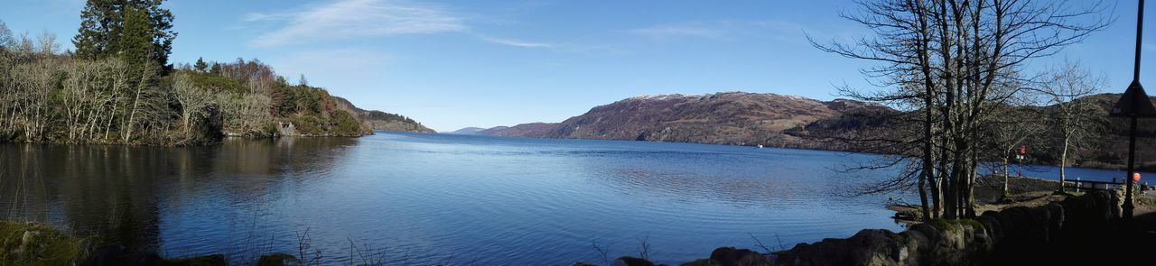 Loch Ness from Fort Augustus Water Tree Outdoors Sky Nature Mountain Beauty In Nature No People Day Caledonian Canal