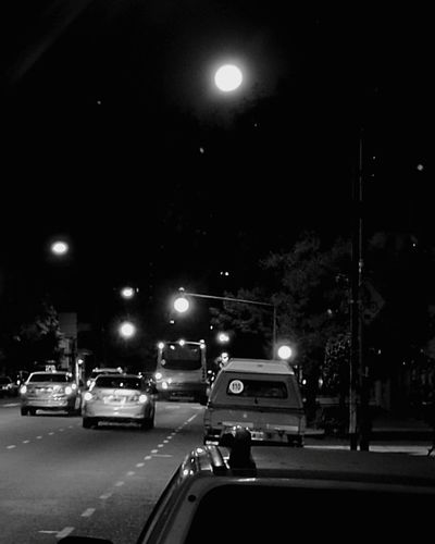 Night Moon Outdoors Transportation Car Illuminated Street Light Gigant Moon Welcome To Black