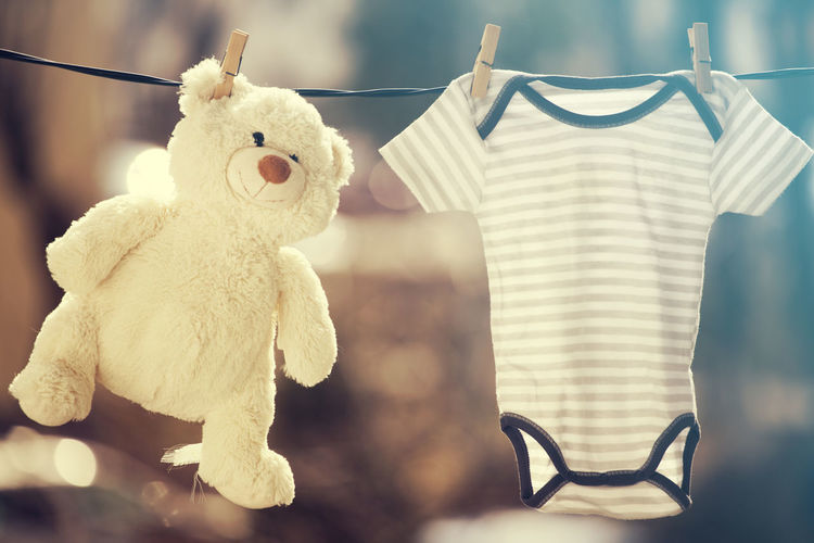 Toy Representation Hanging Stuffed Toy Animal Representation Focus On Foreground No People White Color Teddy Bear Still Life Close-up Clothespin Clothing Indoors  Glasses Clothesline Animal Art And Craft Day Softness