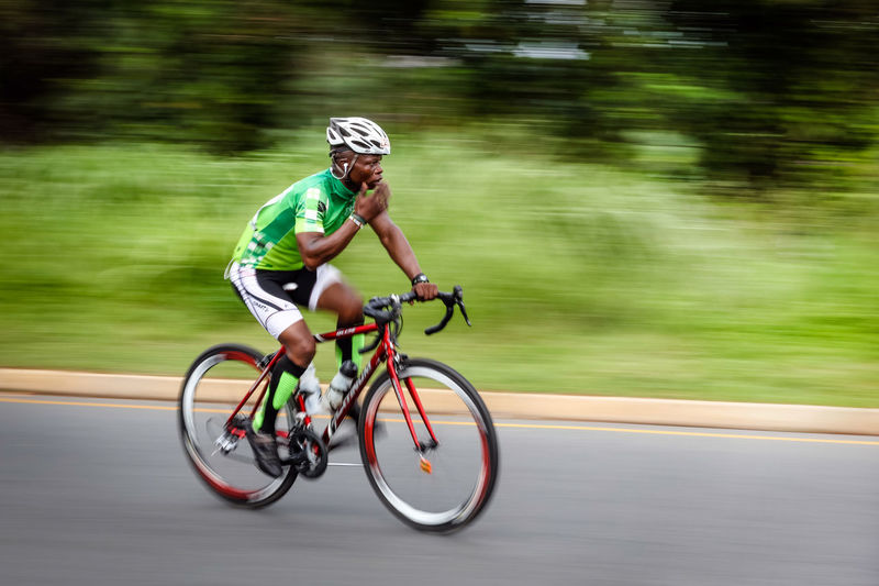 Cycle race Bicycle Blurred Motion Sport Motion Speed Transportation Activity Helmet Headwear Riding Cycling Ride One Person Competition Sports Clothing Cycling Helmet Athlete Sports Race Lifestyles Leisure Activity Outdoors Tour Durban Race Motion Blur Motion Photography
