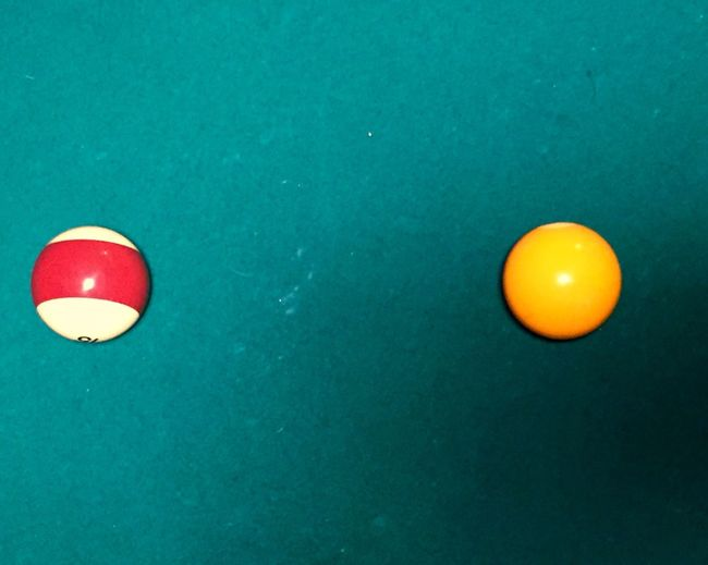 The OO Mission Pooltable Felt Pool Green Color United States Balls Close Up Orange Yellow Tranquil Game What's On The Roll Color Palette Two Is Better Than One