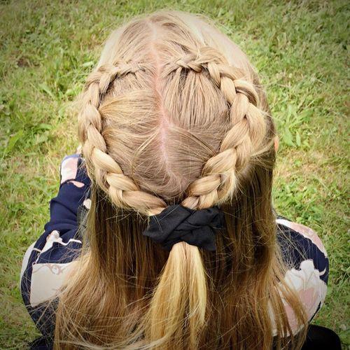 Blond Hair Braided Hair Long Hair Summer Hair 💞