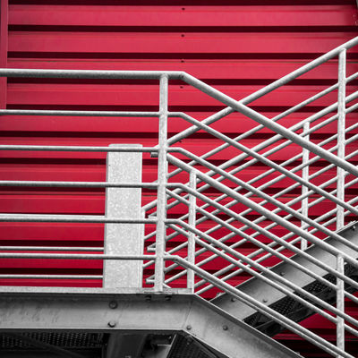 CrissCross on Red Architecture Built Structure Close-up Day No People Outdoors Railing Red Staircase Steps Steps And Staircases Urban Geometry Urban Lines Minimalz Premium Collection The Graphic City