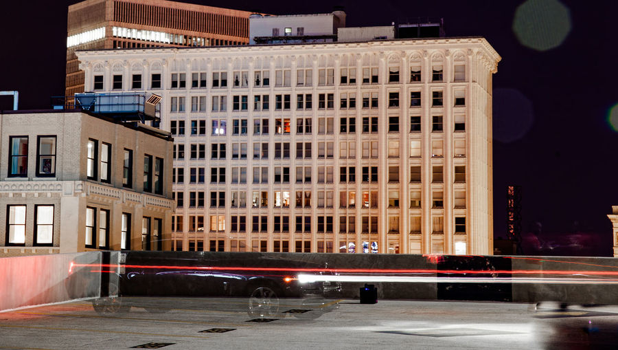 Architecture Building Building Exterior Built Structure Capital Cities  Cars Carspotting City City Life City Street Illuminated Long Exposure Night Photography Long Exposure Shot Modern Night No People Office Building Outdoors Rolls Royce Rolls Royce Ghost Sky Street Light Travel Destinations