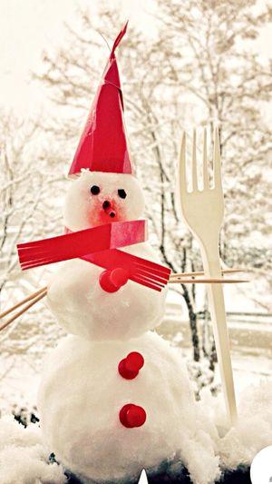 Bursa da ilk kar, ilk kardan adamcık👍😊👌